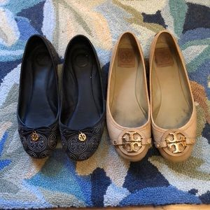 Two pairs of Tory Burch Flats for $60